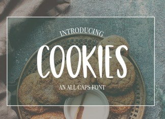 Cute Casual, Handwritten font COOKIES