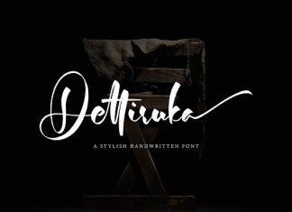 Dettiruka Stylish Handwritten Font