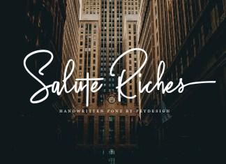 Fontbundles - Salute Riches - Handwritten Font