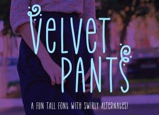 Fontbundles - Velvet Pants