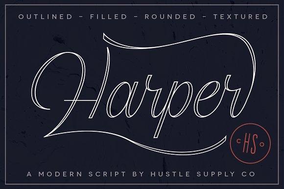 Harper Script Font