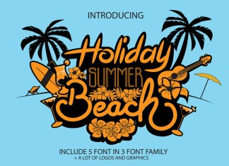 Holiday Summer Beach Font
