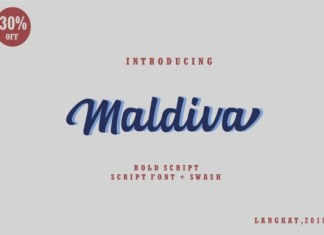 Maldiva Script Font