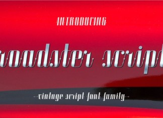 Roadster Script Font Family
