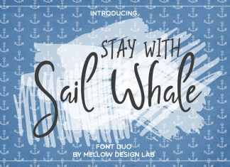 Sail Whale Brush Font