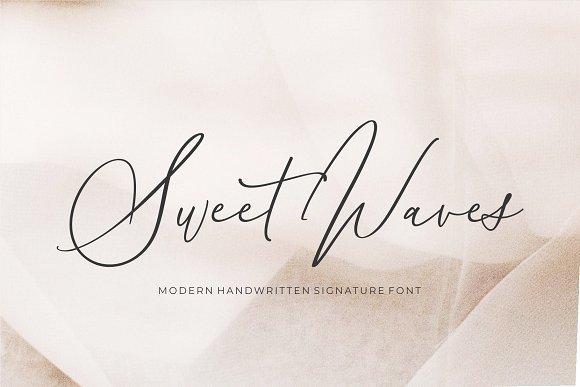 Sweet Waves - Luxury Handwritten