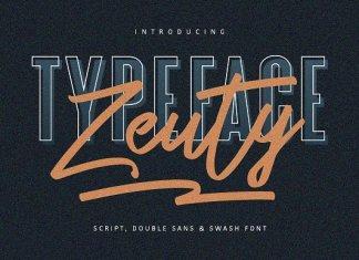 Zeuty Typeface Collection Font