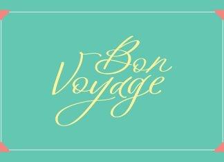 Bon Voyage Font Script