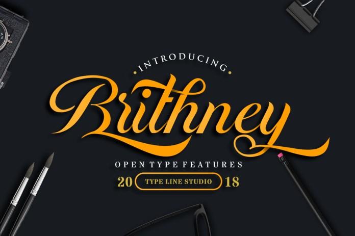BrithneyScript Font