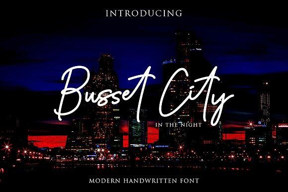 Busset City Excellent Handwritten