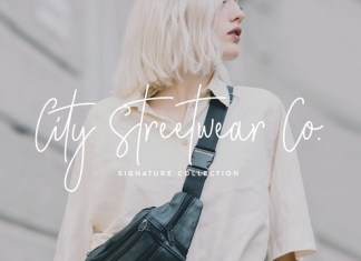 City Streetwear Script Font