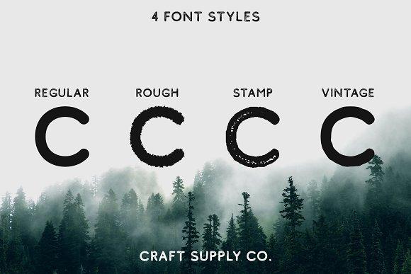 Comodo Font Family + Illustrations
