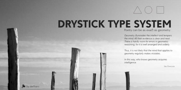 Drystick Geo Grotesk Font Family