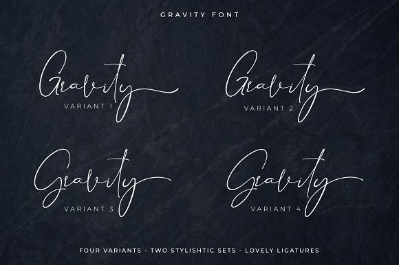 Gravity - Handwritten Font Script