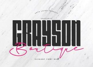 Grayson Boutique - Font Duo