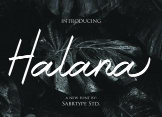 Halana Font Script Font