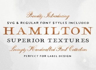 Hamilton SVG Font Collection