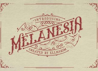 Melanesia Font and Free Illustration