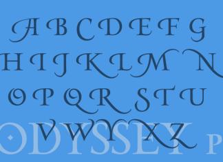 Odyssey Pro Font Serif