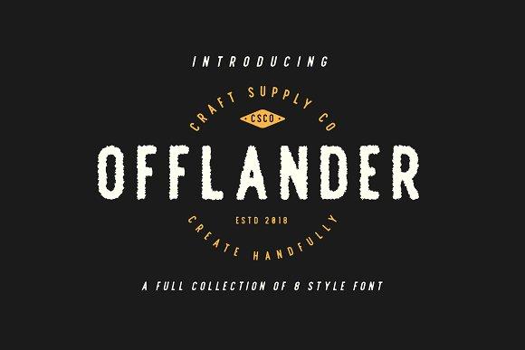 Offlander Font Sans Serif
