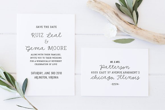 Save the Date Font