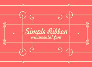 Simple Ribbon Font