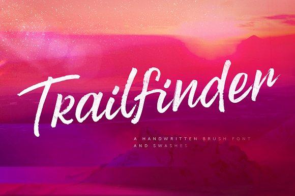 Trailfinder   A Brush Script Font