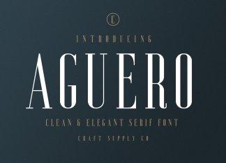 Aguero Serif Font Family