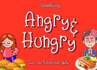 Angry & Hungry Twin Cute Fonts