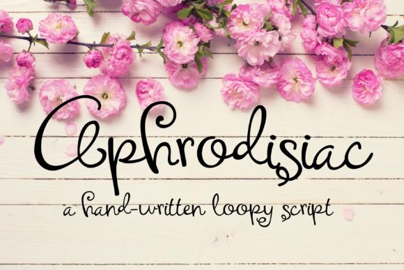 Aphrodisiac Script Font