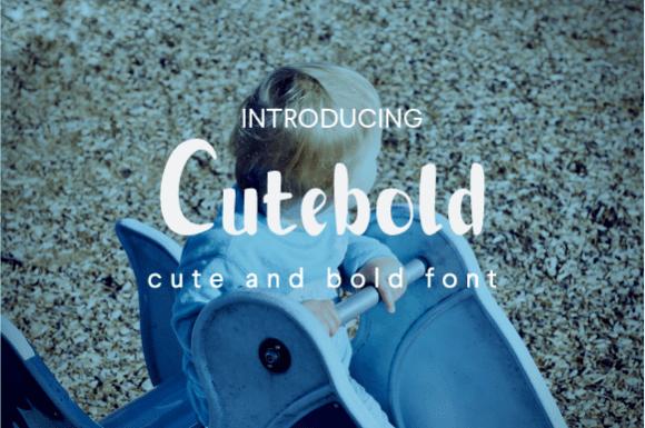 Cutebold Font