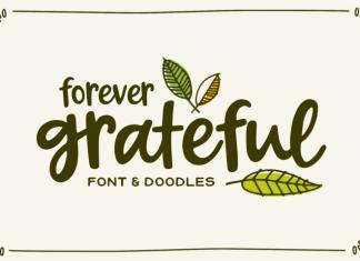 Forever Grateful Font & Doodles Font