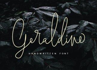 Geraldine | Handwritten Font