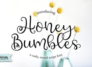 Honey Bumbles, a curly round script
