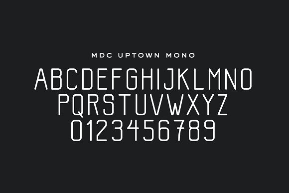 MDC Uptown - A Modern Condensed Font