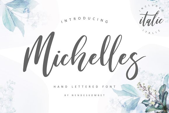 Michelles Script Font