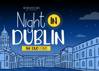 Night in Dublin Other Font