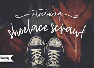 Shoelace Scrawl, a handwriting font Script Font