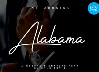 Alabama - Signature Font Script Font
