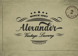 Alexander 2 Style Font