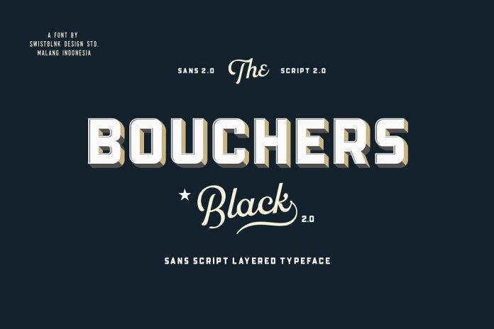 Bouchers Layered Duo Font