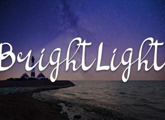 bright light script handwritten font Script