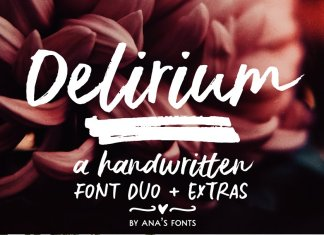 Delirium | a brush font duo