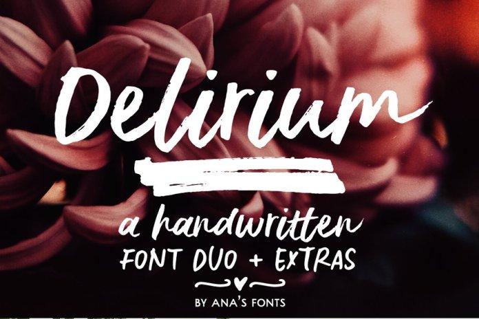 Delirium | a brush font duo