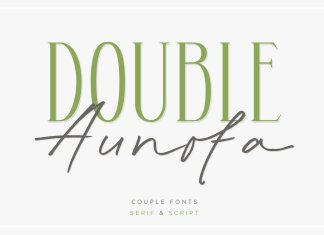 Double Aunofa - Couple Font