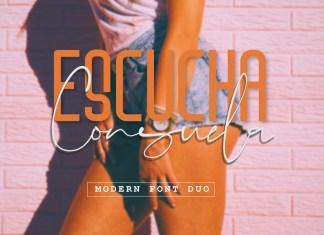Escucha Consuela Font Duo Script Font