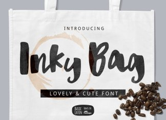 Inky Bag Brush Font