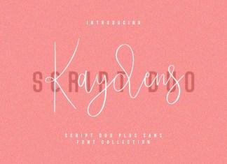 Kaydens Script Font