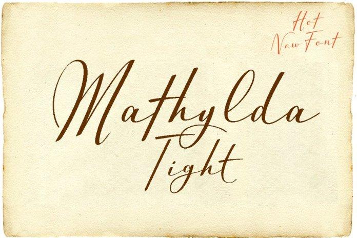 Mathylda Tight Font