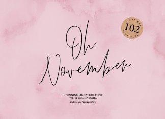 Oh November Script